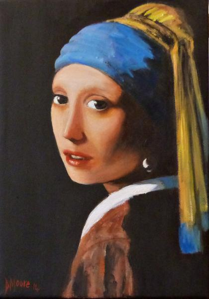 Girl With a Pearl Earring(After Vermeer)
