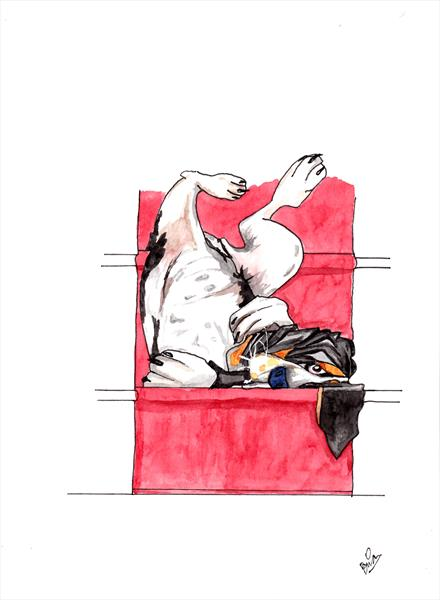 A basset can sleep anywhere  reserved for JW  by Brian Maloy