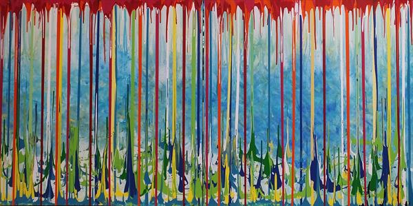 Magic Ingredient (Very Large Contemporary Diptych) by Hester Coetzee
