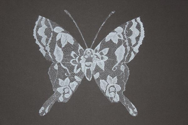 Lace Butterfly I by Paula Marshall