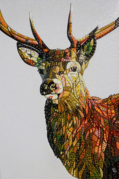 Abstract Deer 23 (Sculptural) by Paula Horsley