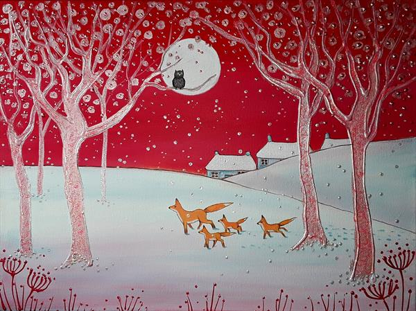 Pink Winter Night by Angie Livingstone