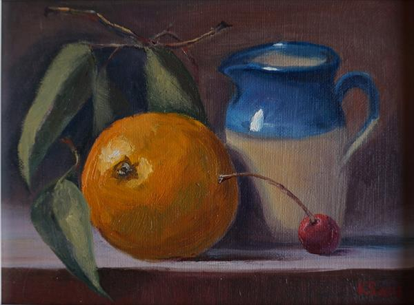 Still Life with creamer by Sergej Karetnikov