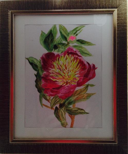 Peony for CANCER charity by Sheila Skilton
