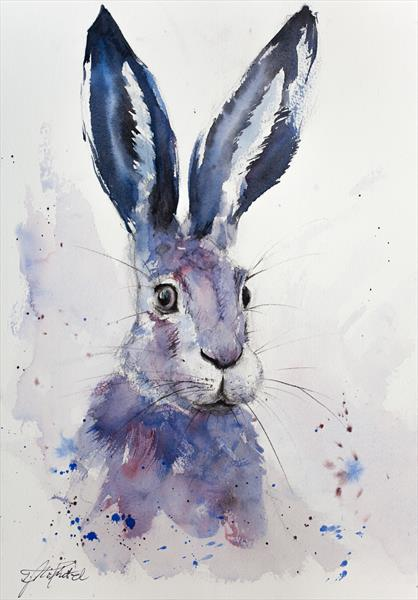 Blue hare by Tomasz Mikutel