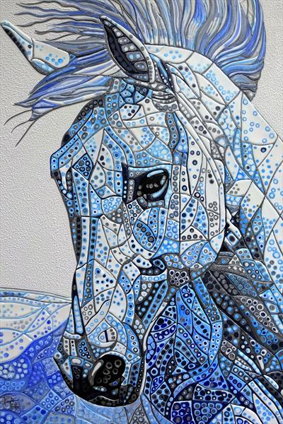 Abstract Horse 10 (Sculptural) (Reserved for BS) by Paula Horsley