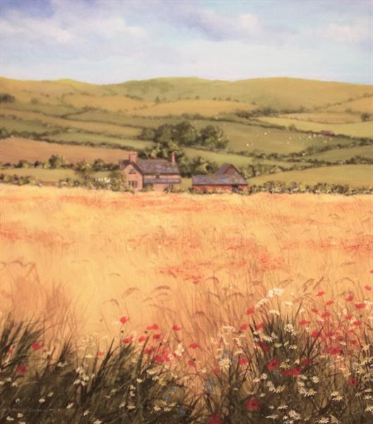 Wild flowers and wheat by Stuart Parnell