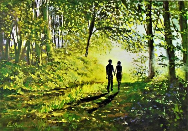 A walk into the sunlight by Rod Bere