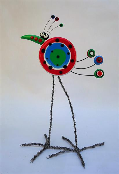 Dotty Bird Sculpture by Paula Horsley