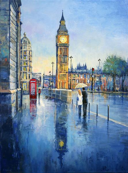 London Rainy Street