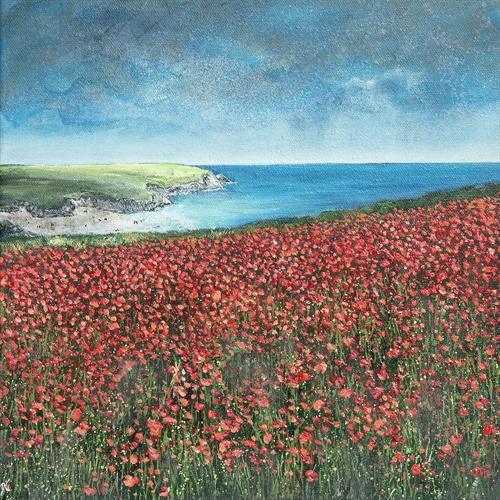 West Pentire Poppies by Diane Griffiths