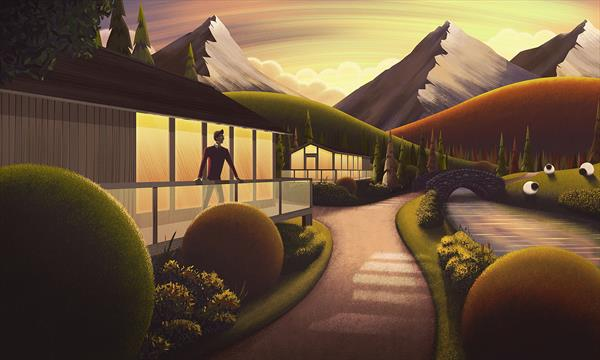 Sunset Cabin - Signed and Framed Limited Edition by Rob Palmer