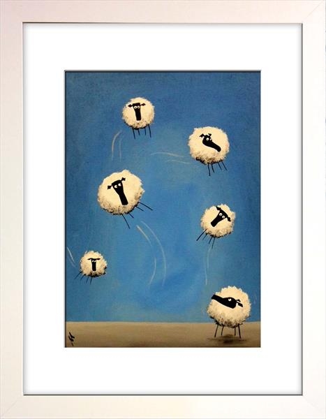 If Only Ewe Can Fly Limited Edition Print by Mervyn Tay