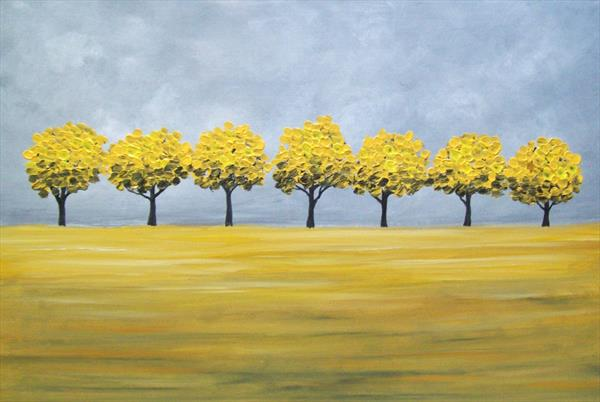 Golden Trees (Commission) by Patricia Richards