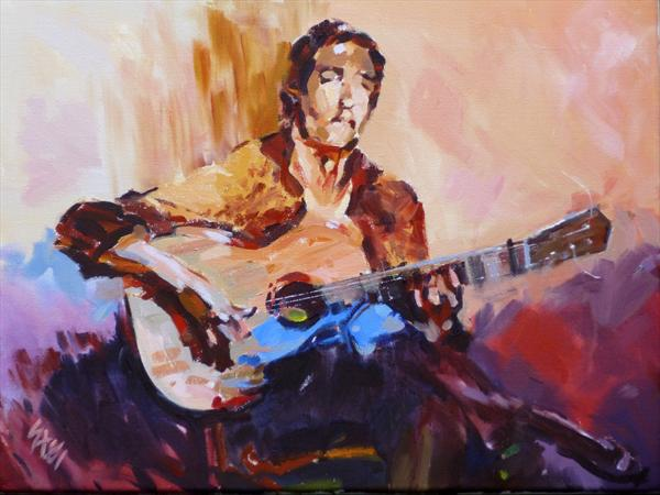 Guitarist Painting Guitarist #8 by David ...