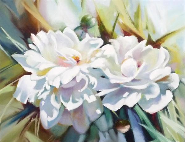 Peony,  limited edition Giclée print made from the original painting by Diana Davydova