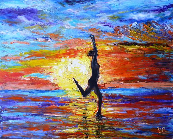 Dancing on the shore by Mary Ann Day