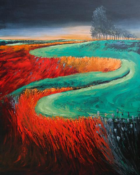 The sundown and the storm - Fields and Colors Series by Danijela  Dan