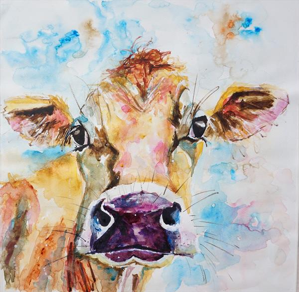 Wistful Cow (Large) by Anna Pawlyszyn