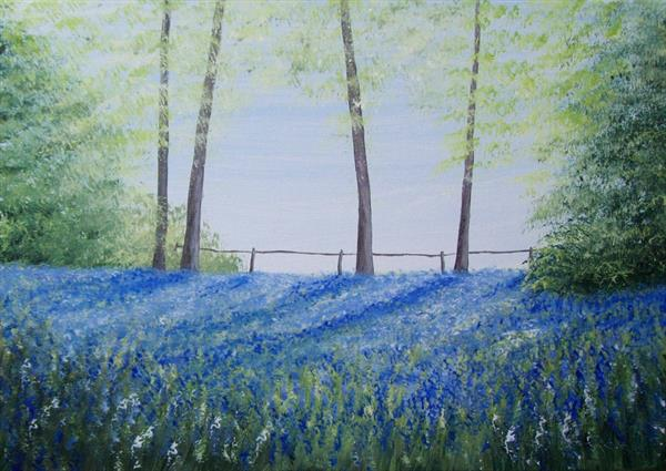 Edge of the Bluebell Wood by Patricia Richards