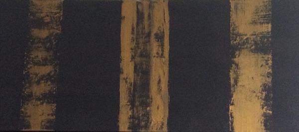 Abstract Gold Dust by Denise Windle