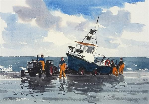 Launching from the Stern by Ken  Hayes