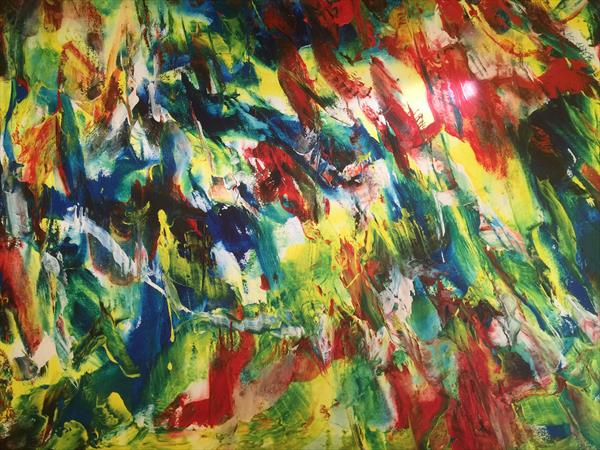 abstract art by ANTONIO LOPES title.caminho verde  by antonio lopes