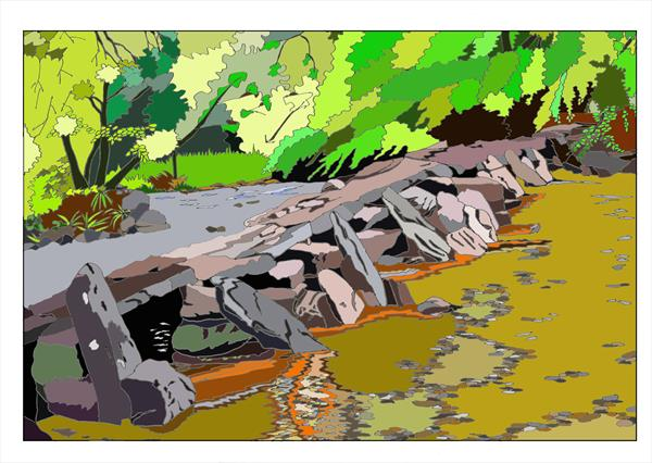 Tarr Steps - Exmoor by Jo Mortimer