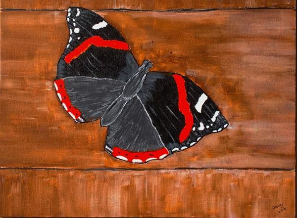 Red Admiral Butterfly by Denise Pennington