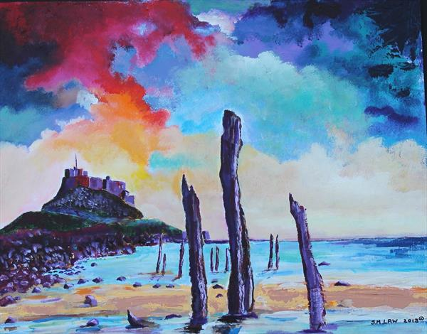 Lindisfarne Castle by Stephen Michael Law