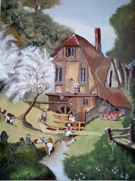 The old water mill by Leslie  Daverin