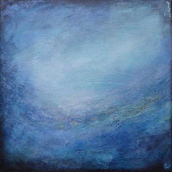 Abstract Blue  by Janice  Rogers