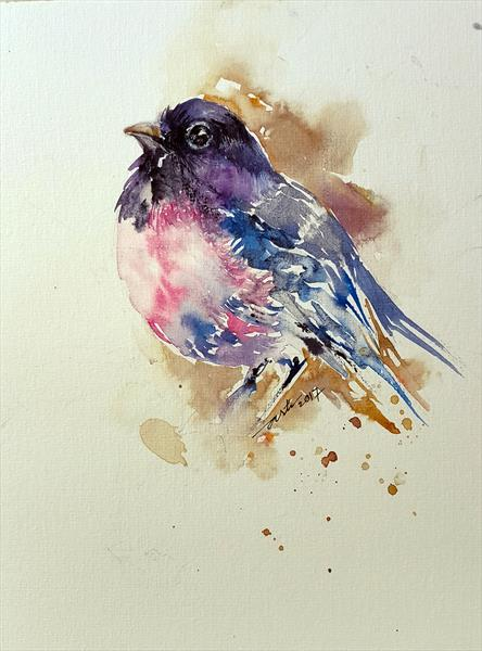 Purple Bird Polly by Arti Chauhan