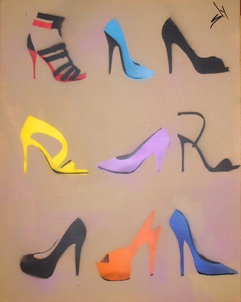 SLY HEELS (ON CHUNKY CANVAS) by Juan Sly