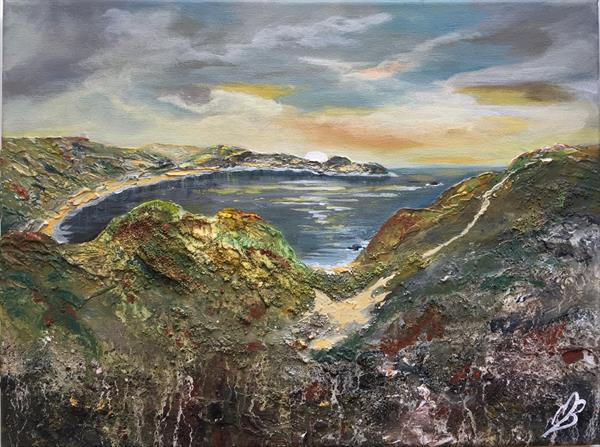 Lulworth Cove Textured by Marja Brown