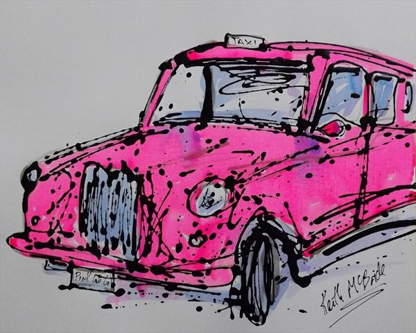 London Taxi (In Pink)