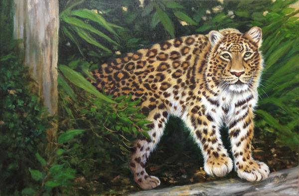 Forest Leopard by Jane Moore