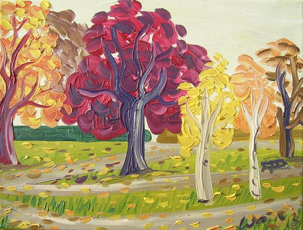 Autumn Trees II by Kirsty Wain