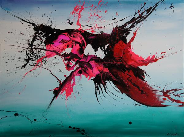 Finned And Furious (Spirits Of Skies 108029) - 120 x 90 cm - XXL (48 x 36 inches) by Ansgar Dressler