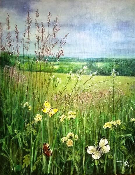 Meadowland - A Walk in June by Theresa  Robinson