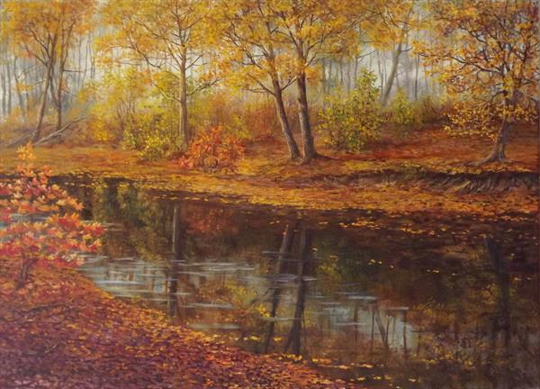 October. Landscape by Oleg Riabchuk