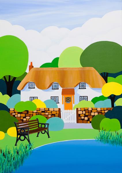 The Village Bench by Shirley Netherton