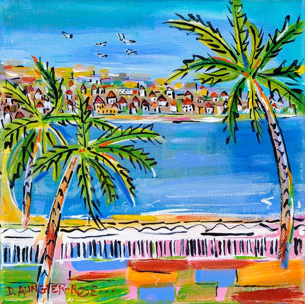SEASIDE PALMS by Diana Aungier - Rose