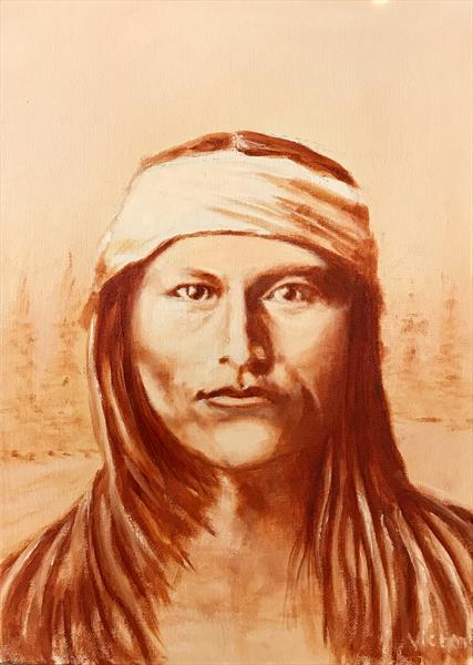 Native American. Naiche, the tall Handsome son of Cochise. by Victor White
