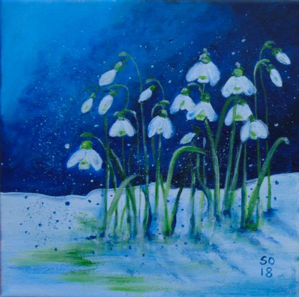 Snowy Snowdrops  by Super Cosmic