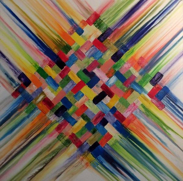 Channel The Spirit (Large Square) by Hester Coetzee
