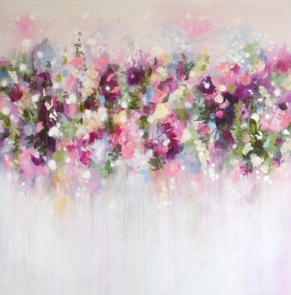 Floral Symphony - Large Abstract Painting by Tracy - Ann Marrison