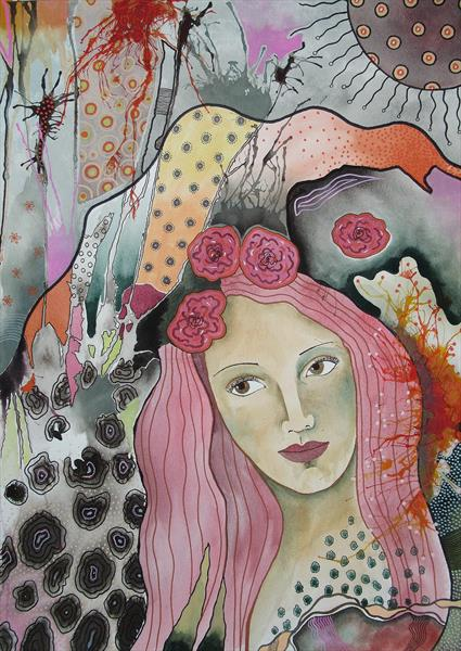 Pink Hair by Bea  Roberts