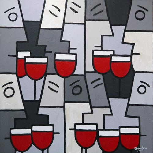 Red Wine with Friends by Simon Fairless