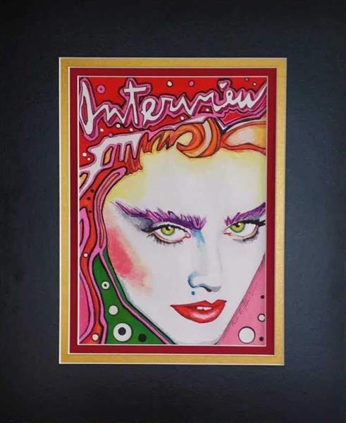 Copy of front cover of Interview magazine. (Madonna.) by Paula Vaughan